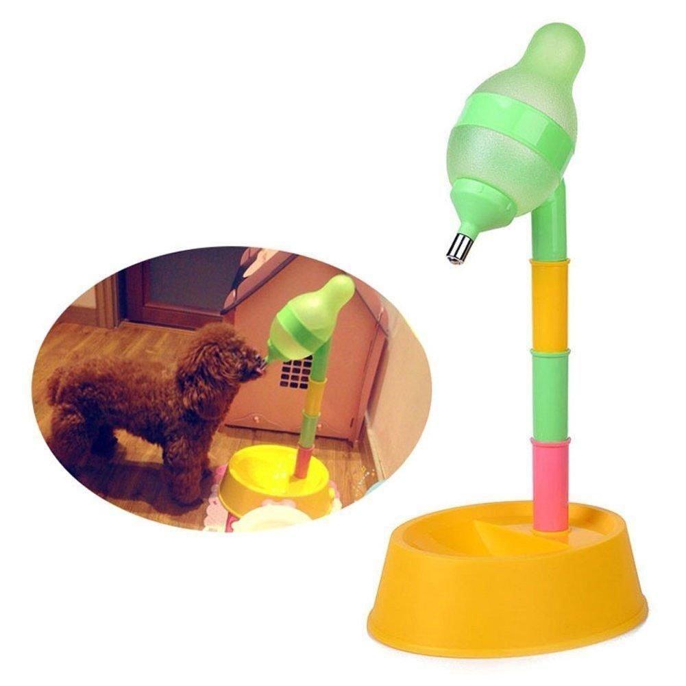 takestop/® Ciotola PLASTICA con Bottiglia per Cocker Cane Gatto Animali Domestici MANGIATOIA Cibo Acqua Colore Casuale