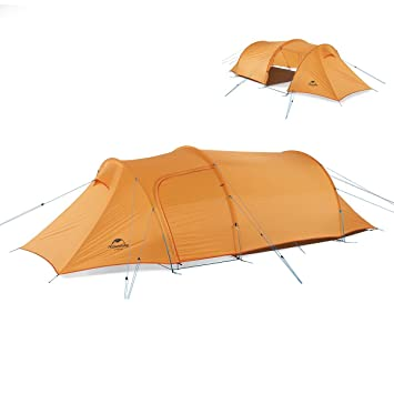 9ee76cd53f17 iBasingo 2-3 Person Detachable Tunnel Tent with Lobby Outdoor Camping  Climbing Double Layer Waterproof Tent 4 Seasons Camp Tent for Travel   Amazon.co.uk  ...