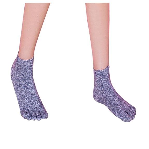 Women Toe Socks Five Finger Socks Inkach Stylish Girls Cotton Breathable Running Socks Lightweight Sports Trainer Toe Finger Socks