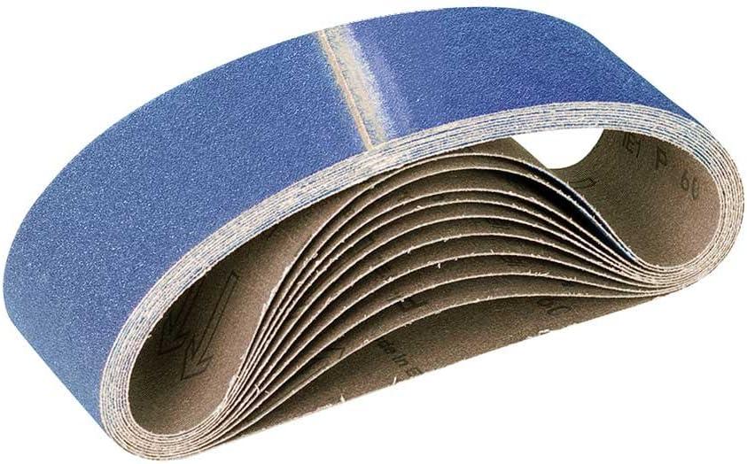 corindon de zirconium 457 x 75 mm p G36 Lot de 10 ponceuses /à bande portatives RETOL bandes abrasives