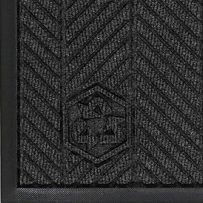 """Andersen Waterhog Eco Elite PET Polyester Fiber Indoor/Outdoor Floor Mat, SBR Rubber Backing, 3/8"""" Thick"""