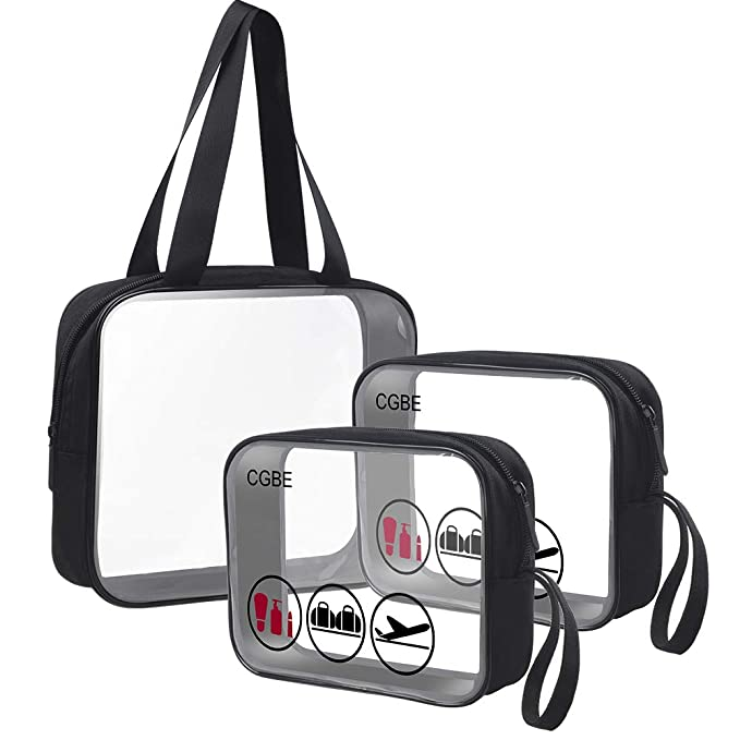8c85081975fa Amazon.com  CGBE TSA Approved Toiletry Bag with Durable Zipper ...