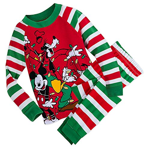 Disney Mickey Mouse and Friends Holiday PJ Set for Boys Size 8
