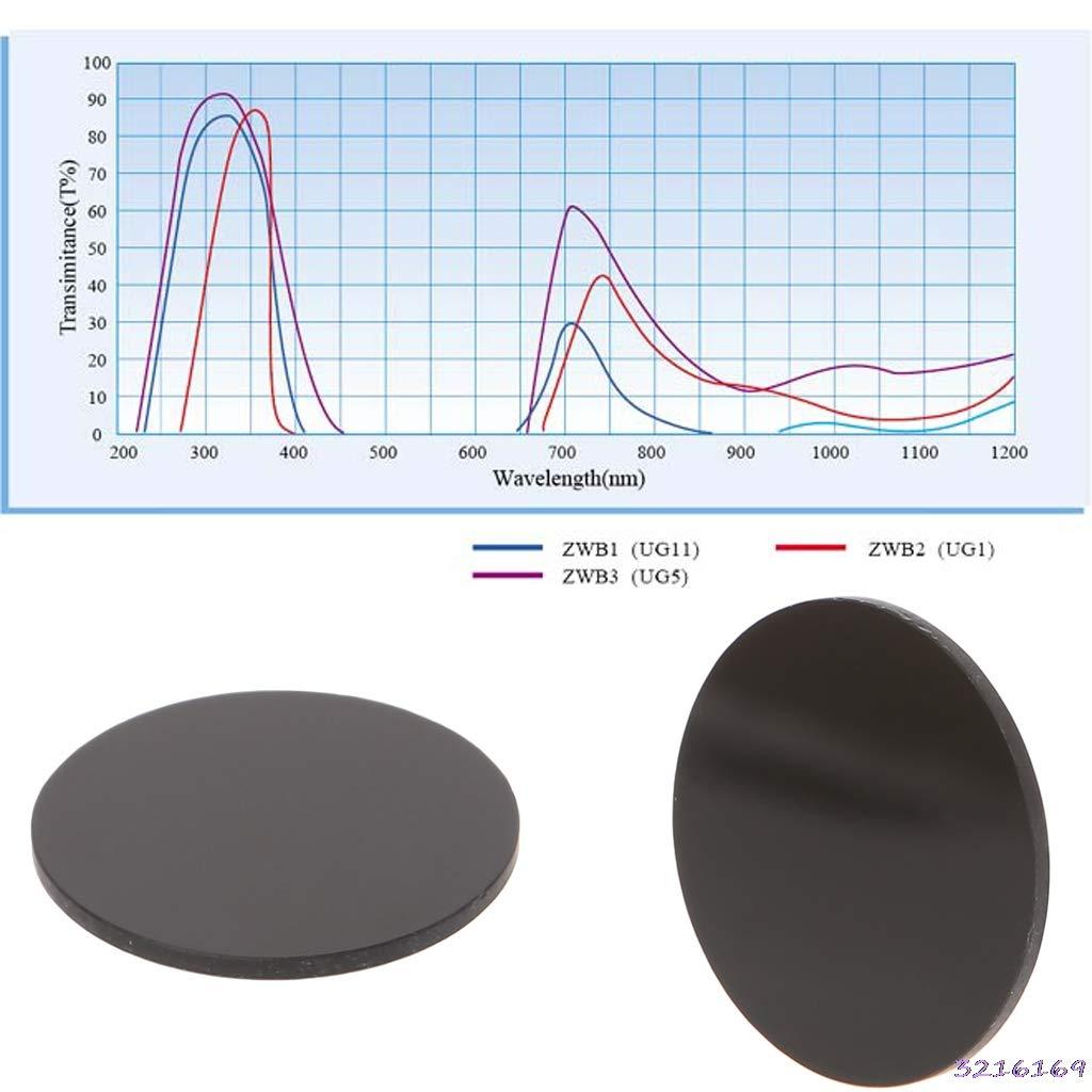 ZWB2 Ultraviolet UV Band Pass Filter UV Flashlight Diameter 25mm Thickness 1.5mm-43# Kamas tools