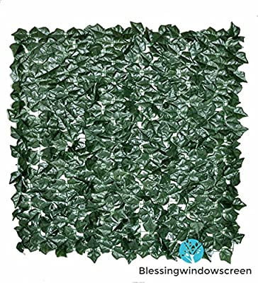 120x40 Inches Faux Ivy Privacy Fence Trellis Screen Artificial Hedge Fencing or Wall Outdoor Decor TV Backdrop Wall Paper