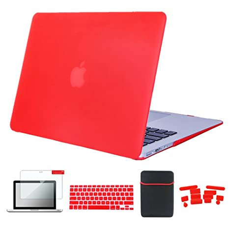 san francisco 89f12 00b1d Amazon.com: Se7enline A1465 Macbook Air Case Soft Touch Plastic Hard ...