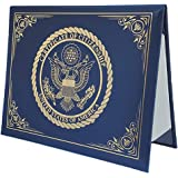 U.S. Citizenship and Naturalization certificate padded holder with cover. Gold American Eagle logo 'Certificate of Citizenshi