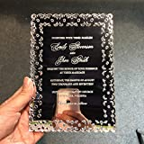 Unique Design 5X7inch Silver Mirror Acrylic Wedding Invitations 50 Pieces Per Lot