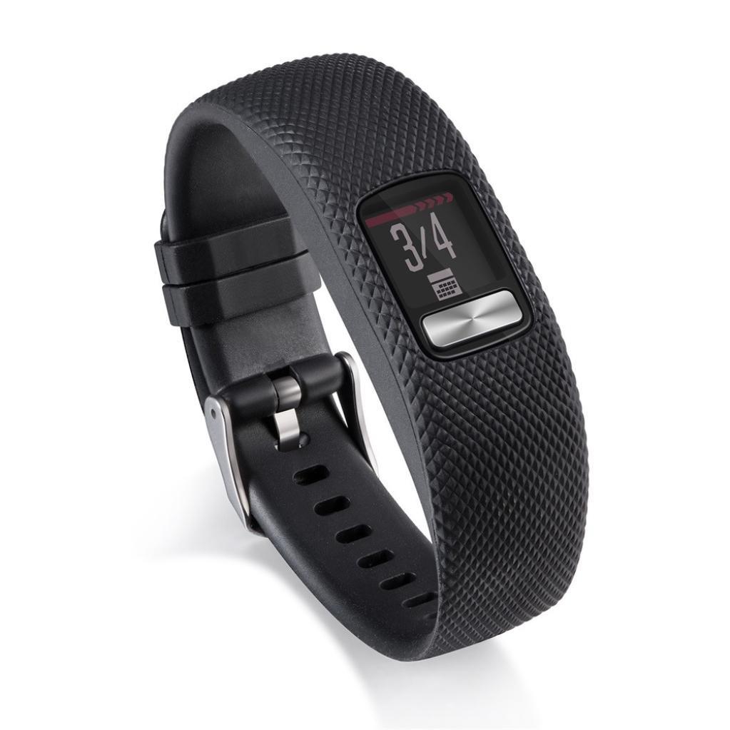 For Garmin Vivofit 3 Replacement Silicone Wrist Bracelet Band Strap Metal Buckle