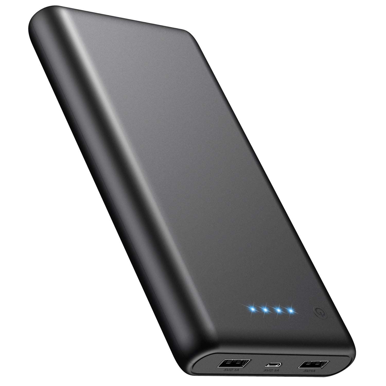 Portable Charger Power Bank 24800mAh High Capacity External Battery Smaller Size Lighter Weight Backup Battery Compatible with Smart Phone, Android Phone, Tablet and More