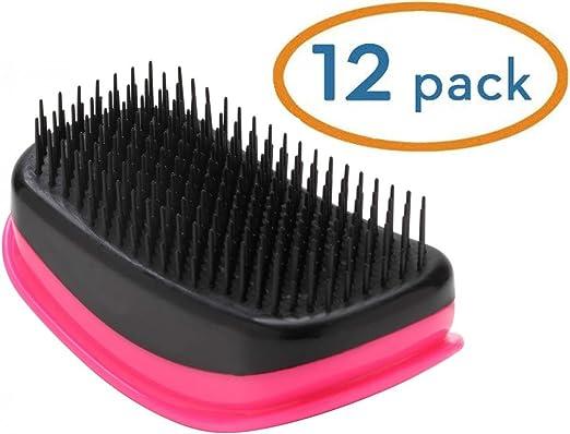 "Hair Tamer Pink ""Kink"" Detangling Hair Brush 12 Pack"