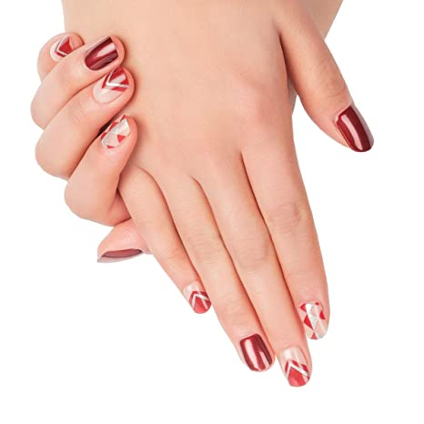 Doreliss uñas postizas 30 Pcs Consejos corto uñas falsas de Pegamento adhesivo de doble cara Glitter