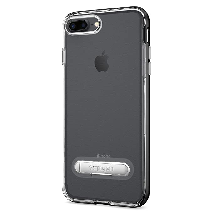 low priced bcf08 acaac Spigen Crystal Hybrid Designed for Apple iPhone 7 Plus Case (2016) /  Designed for iPhone 8 Plus Case (2017) - Gunmetal