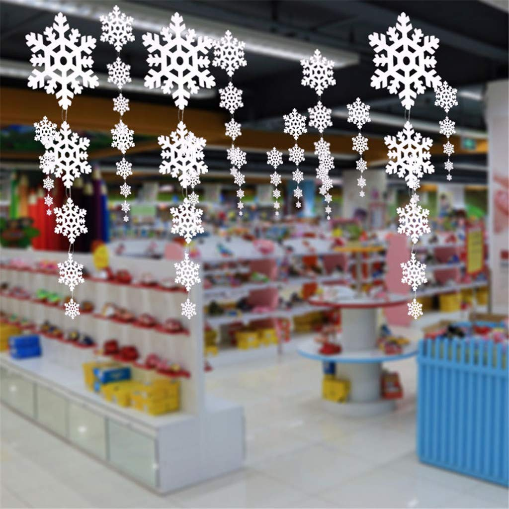 Home Promotion Sale Clearance Winter Snowflakes Hanging on Windows Christmas Tree Holiday Party Decoration
