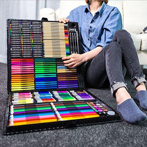 BoTen Watercolor Pen Crayon Color Pencils Painting Portfolio Set (258 Color) by BoTen (Image #3)
