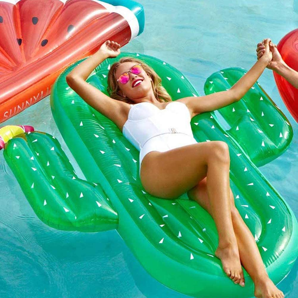 Hinchable Flotador Cactus Piscina para Adultos Hinchables Juguete