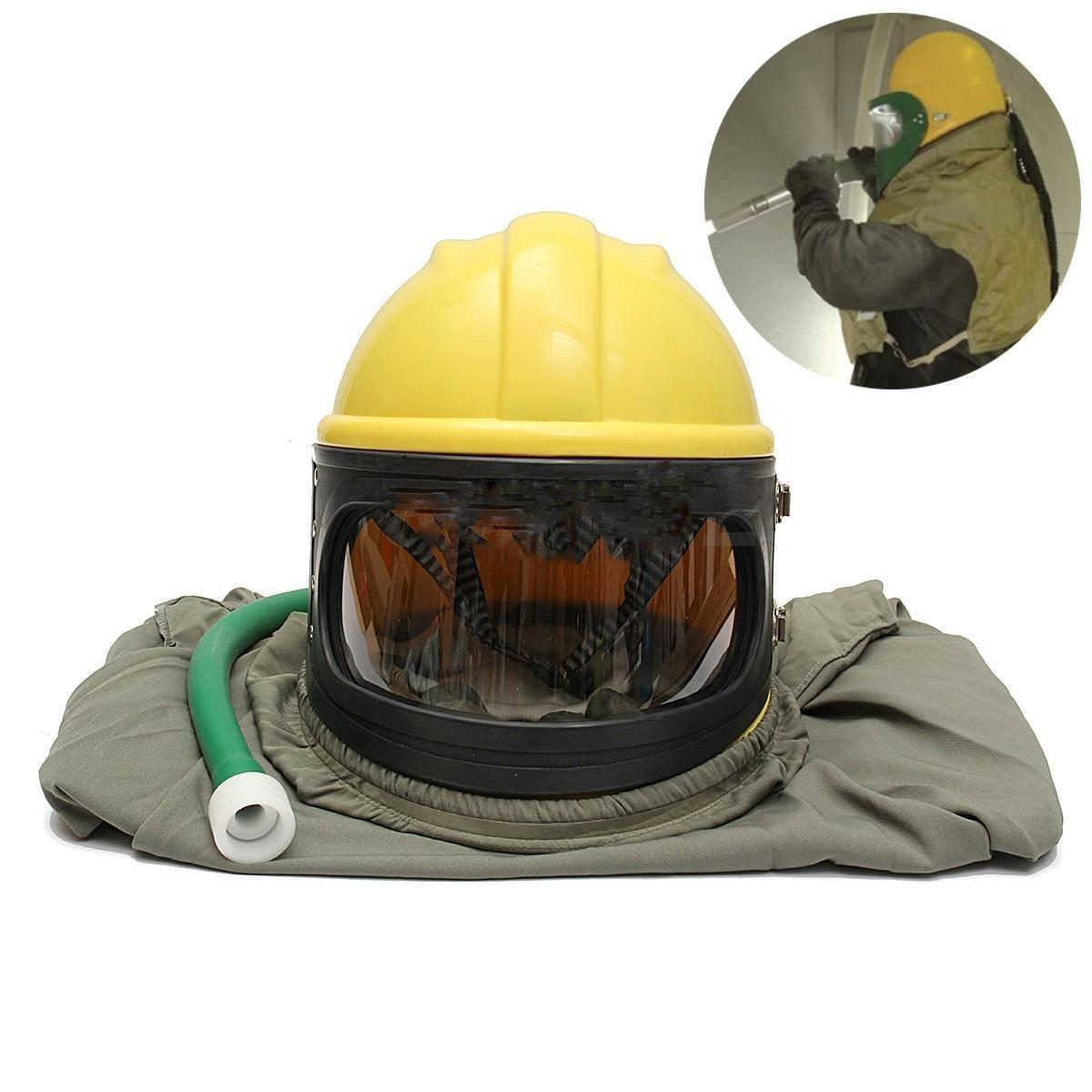 AIR FED Safety Sandblast Helmet Sand Blast Hood Protector for Sandblasting by BIC (Image #8)