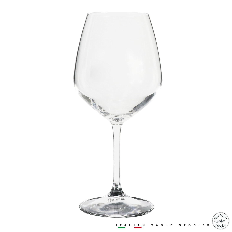 Bormioli Rocco 18oz Red Wine Glasses (Set Of 4): Crystal Clear Star Glass, Laser Cut Rim For Wine Tasting, Lead-Free Cups, Elegant Party Drinking Glassware, Dishwasher Safe, Restaurant Quality Bormioli Rocco Glass Co. Inc. 196131G45021990
