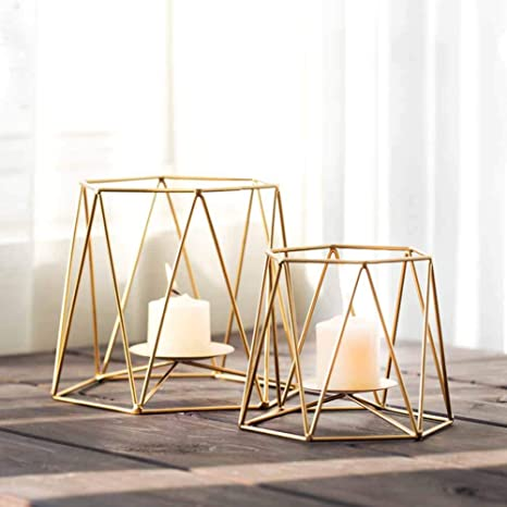 Li Lamp Coffee Table Decoration Gold Geometric Wrought Iron
