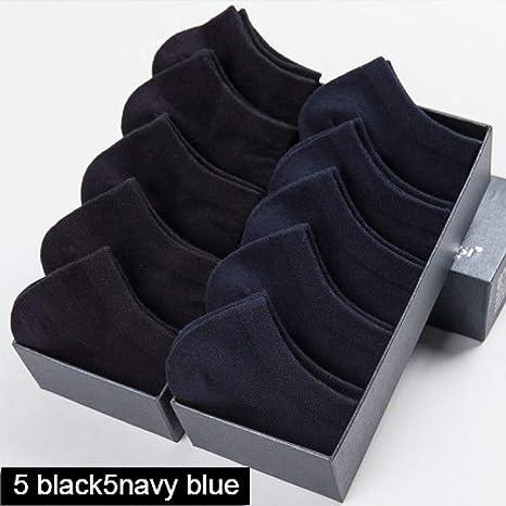 SHOPFF 10 Pares/Lote Calcetines para Hombres Calcetines Cortos de algodón Fino para Hombres Negro Blanco Calcetines náuticos Medias de Hombre Tamaño 39-43,5 Negro 5 Azul Marino: Amazon.es: Deportes y aire libre