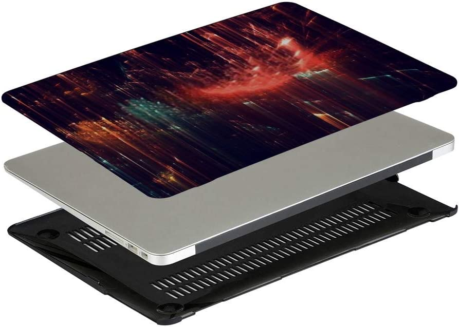 Touch ID A1932 Plastic Case Keyboard Cover /& Screen Protector /& Keyboard Clean MacBook Pro Case Abstract Shapes Made Fractal Textures MacBook Air 13
