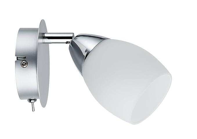 Plafoniere Minisun : Paulmann 66682 spotlight wolballed max 1 x w gu10 cromato opaco opal
