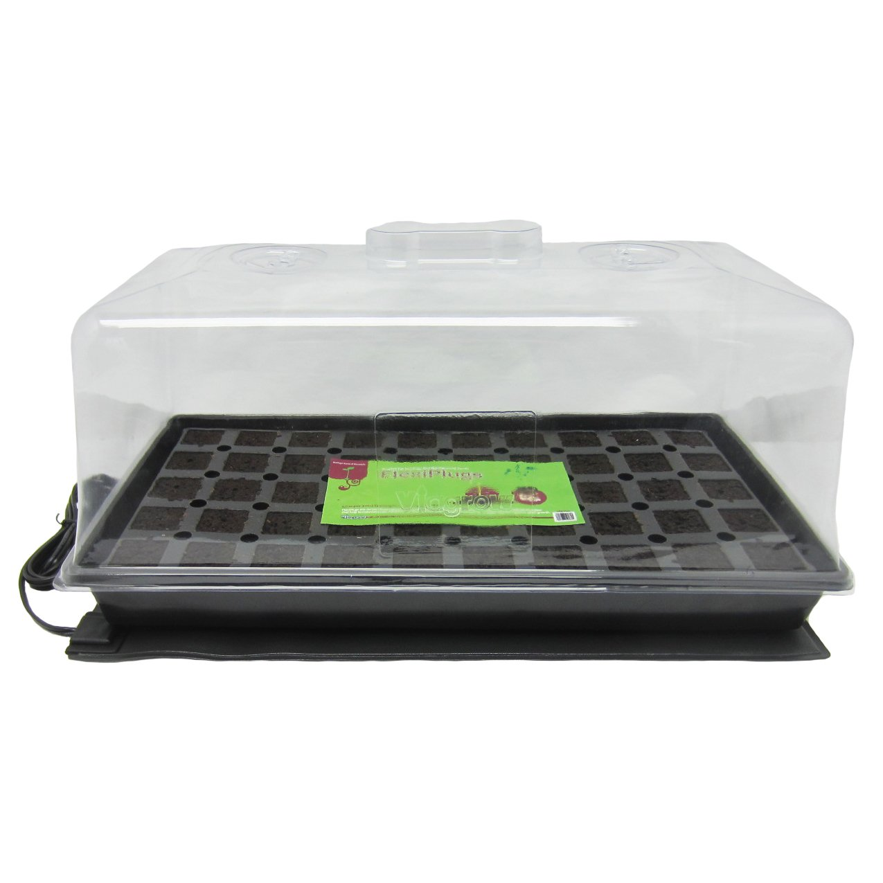 Viagrow 50 Site Pro Plugs with Tray, Insert, Tall Dome & Heat Mat
