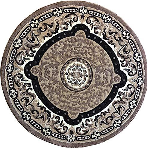 - Americana Traditional Round Persian Area Rug Beige Design 101 (5 Feet 3 Inch X 5 Feet 3 Inch Round)