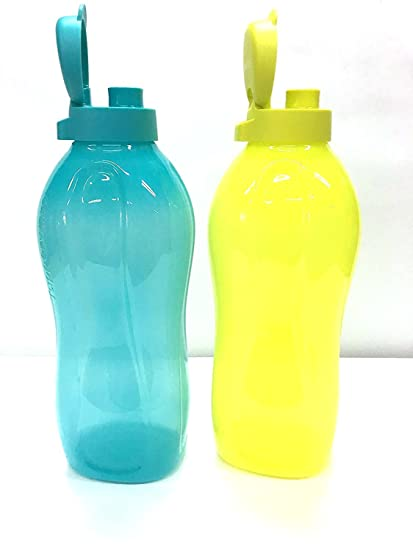 Botellas de agua dispensadoras de agua fría de 2 litros marca Tupperware, set