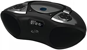 iLive Wireless Bluetooth Boombox with CD Player & FM Radio, Features Built-in Bluetooth Stereo Speakers, Digital Controls and 3.5mm Audio Input, LCD Display and AC Power
