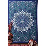 Montreal Tapassier Blue star Hippie Tapestry, 90 x 60-Inch