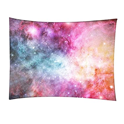Lebather Colorful Galaxy Space 3D Print Large Wall Art Hanging Tapestry  Decorations for Bedroom Living Room Dorm,59\'\' x 79\'\',Purple