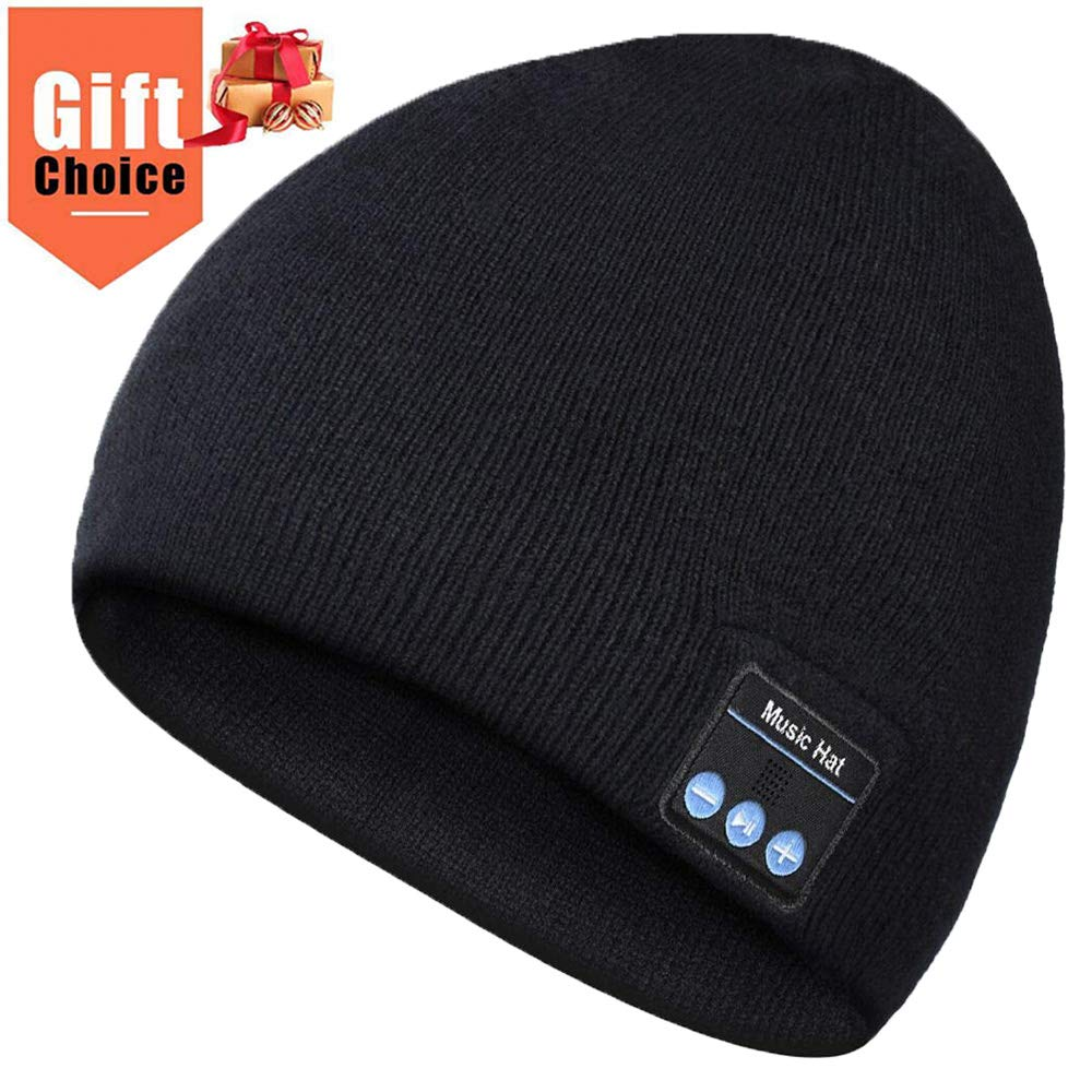 Bluetooth Beanie, Mens Gift, Bluetooth Hat Wireless, Gift for Men Women, Bluetooth Headphones Hat, Outdoor Sports, Skiing,Running,Skating, Gifts for Christmas Birthday, Washable, Long Playtime