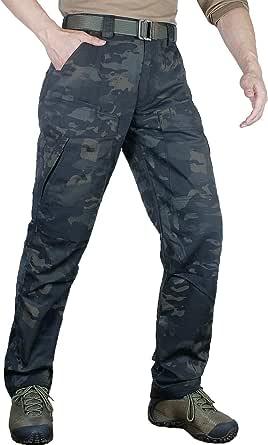zuoxiangru Pantalones Resistentes al Agua para Hombres Rip-Stop Pantalones Rectos de Combate táctico Army Cargo Pantalones de Trabajo con 8 Bolsillos