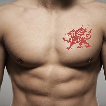 4db2ed632 Welsh Dragon Temporary Fake Tattoo Sticker (Set of 2) - TOODTATTOO.COM