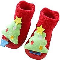 STOBOK Zapatillas de Bebé de Navidad con Árbol