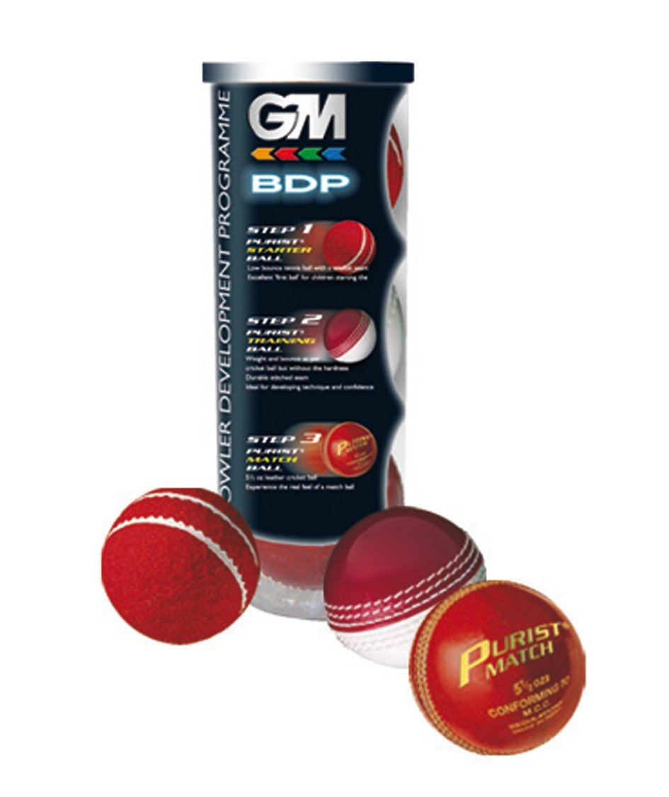 GM BDP - Juego de 3 pelotas de cricket 3080A101