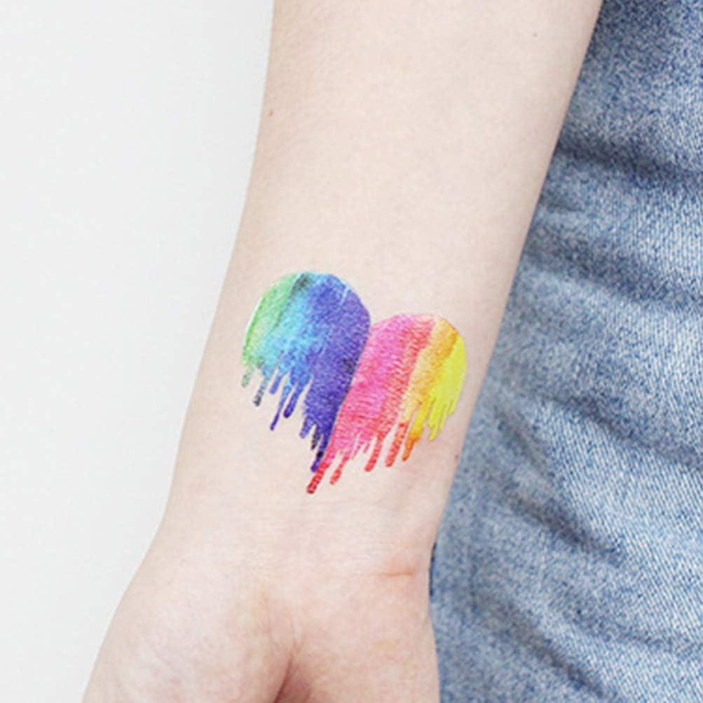 NUOBESTY 24 piezas etiqueta engomada del arco iris a prueba de ...