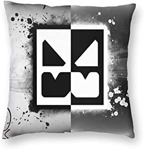 Black Geometry-White-Dash Square Pillow Throw Case Soft Covers Set Cushion Hold Multiple Sizes Pillowcase Sofa Bed Home