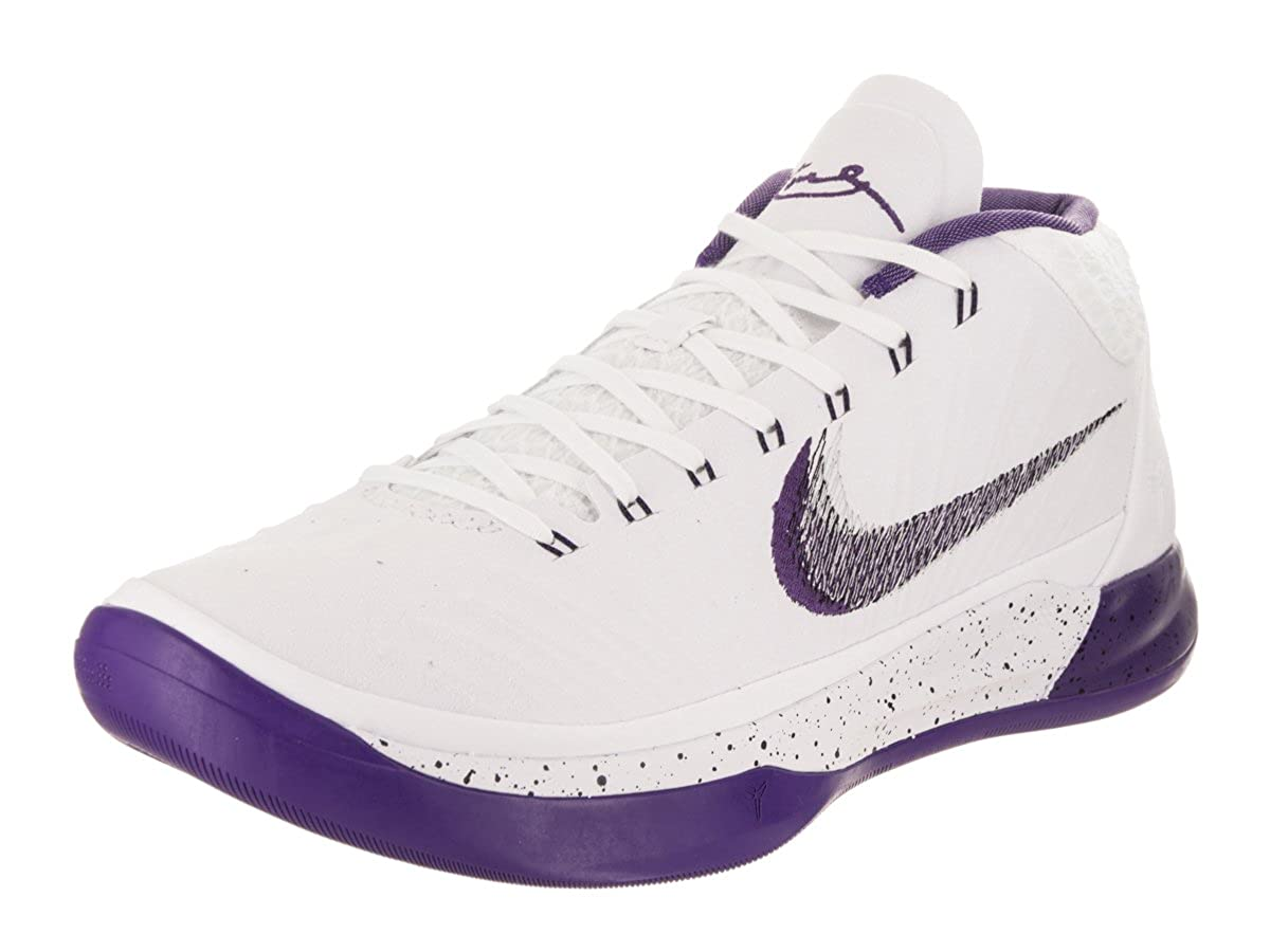 online retailer 24234 ccfe1 Amazon.com   Nike KOBE AD mens basketball-shoes 922482-100 10.5 - WHITE COURT  PURPLE-BLACK   Basketball