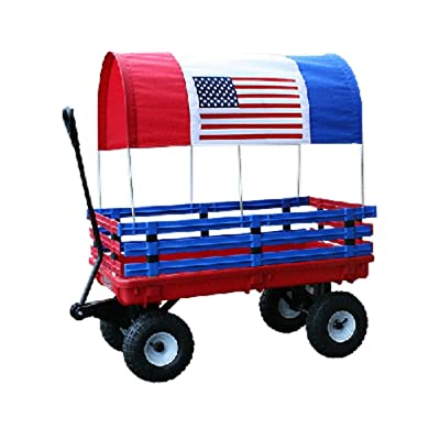 Millside Industries Trekker Wagon with Red and Blue Poly Racks: Toys & Games
