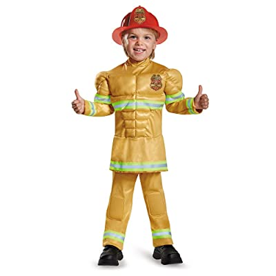 Fireman Muscle Toddler Costume: Toys & Games