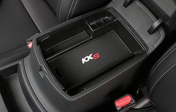 Salusy Car Center Console Armrest Box Glove Box Secondary Storage for Kia Sportage 2017 2018 2019