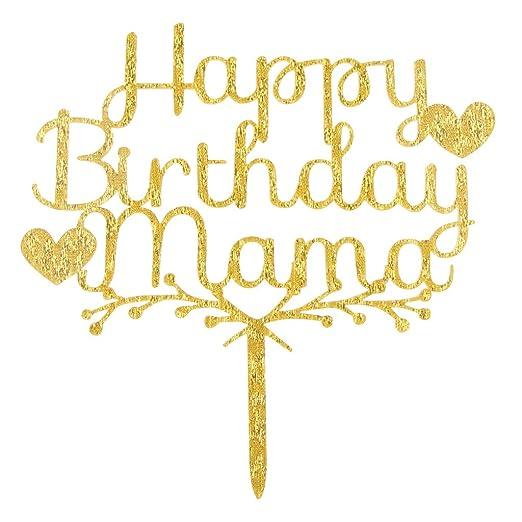 1 Pieza Cake Topper HAPPY BIRTHDAY Madre Feliz Cumpleaños ...
