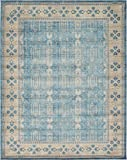 Cheap Luxury Vintage Persian Design Khatoon Rug Light Blue 10′ x 13′ St.George Collection Area Rugs