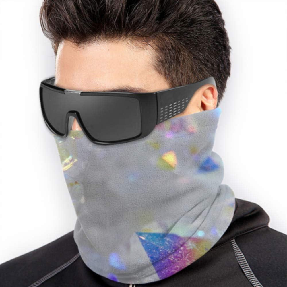 Angel Aura Opal Aura Aura Cuarzo Cluster Druzy Face Máscara de protección solar Bandanas Headwear Máscara protectora solar Multi-función para el clima frío de invierno Mantener el calor para hombres