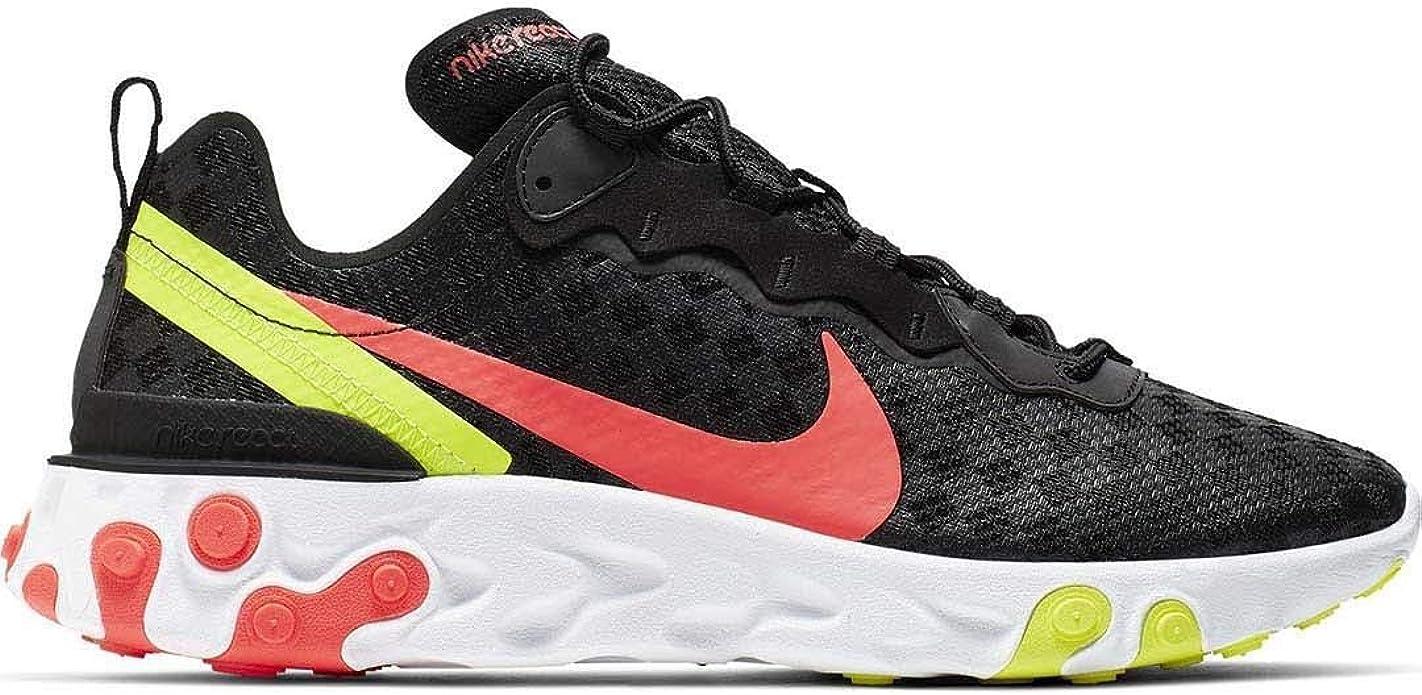 Zapatillas Nike React Element 55 Negro Hombre 40,5 Negro: Amazon ...