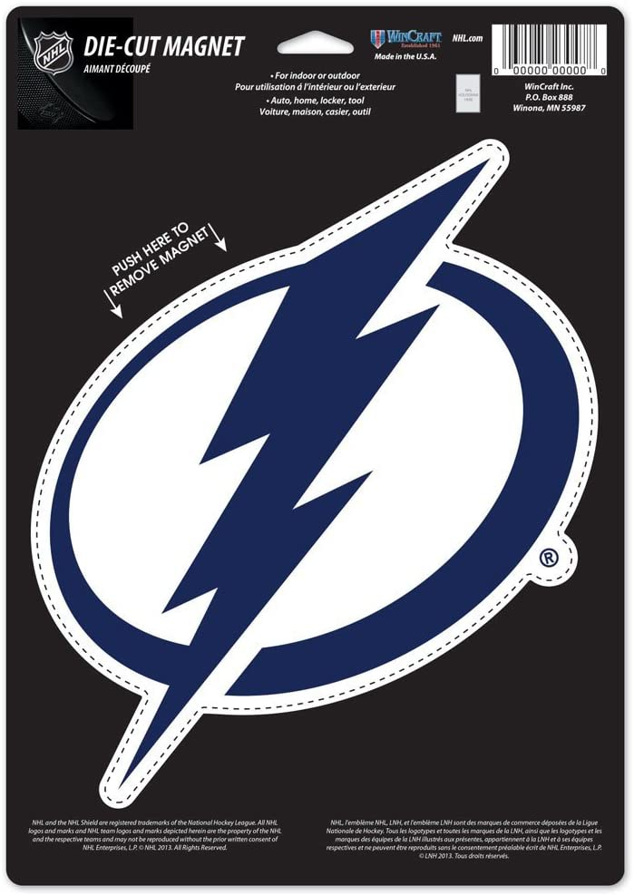Amazon Com Nhl Tampa Bay Lightning 88785015 Die Cut Logo Magnet Small Black Sports Related Magnets Sports Outdoors