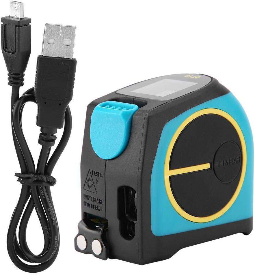DT10 2 en 1 Cinta de Carga Telemétrica USB 20/40 / 60m Medidor Digital Serie 5m + LCD(60M)