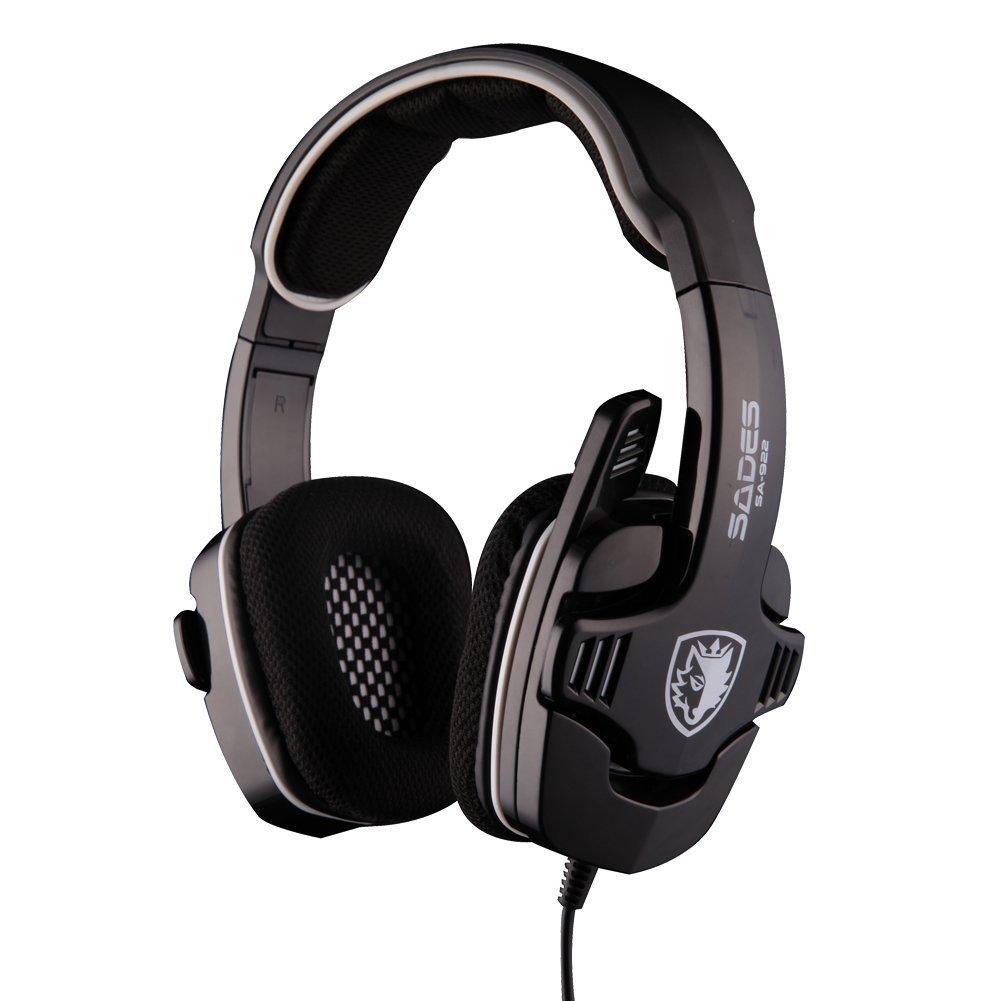 Sades SA-922 Pro Stereo Gaming Headset Headphone with Mic for XBOX 360 / PS3 / PC / Mobile + Sades Retail Gift Box